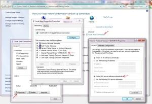 Computer DNS settings overriding default
