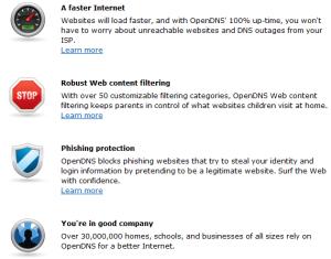 OpenDNS Benefits